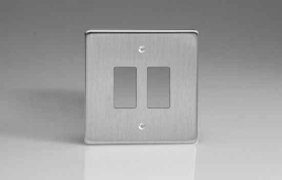 Varilight PowerGrid Plates Brushed Steel